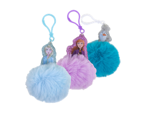 Wholesale Frozen ll Pom Pom Key Rings | Gem Imports Ltd
