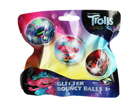 Wholesale Trolls Glitter Bounce Balls | Gem Imports Ltd