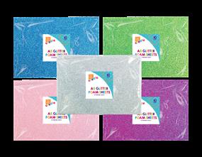 Wholesale A5 Glittered Foam Sheets | Gem Imports Ltd