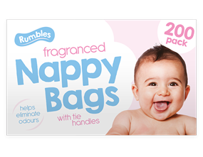 Fragranced Nappy Bags - 200 Pack