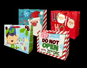 Wholesale Christmas Cute Luxury Large Gift Bags   Gem Imports Ltd