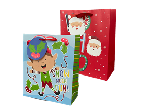 Wholesale Christmas Cute Luxury Medium Gift Bags | Gem Imports Ltd