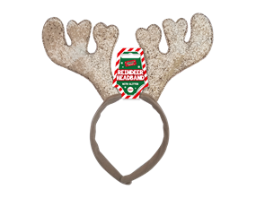 Wholesale Christmas Glitter Reindeer Headbands | Gem Imports Ltd