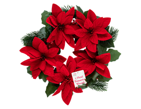 Wholesale Christmas Poinsettia Wreaths | Gem Imports Ltd