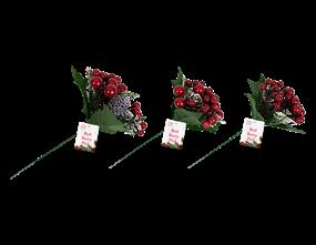 Wholesale Christmas Red Berry Pick | Gem Imports Ltd