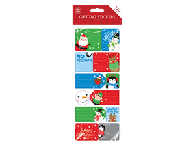 Christmas Sticky Gift Tags - 120 Pack