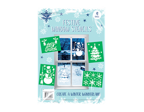 Christmas Window Stencils - 4 Pack