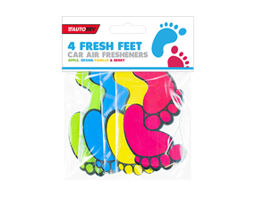 Fresh Feet Car Air Fresheners - 4 Pack