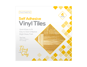 Wood Self Adhesive Vinyl Tiles - 4 Pack