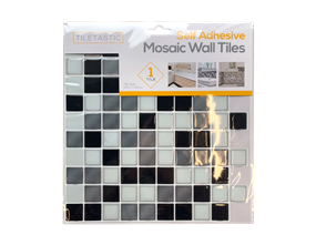 Wholesale Black & White Self Adhesive Mosaic Wall Tiles | Gem Imports Ltd