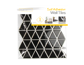 Wholesale Black Triangle Wall Tile Stickers | Gem Imports Ltd