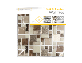 Wholesale Brown Glitter Mosaic Wall Tile Stickers | Gem Imports Ltd