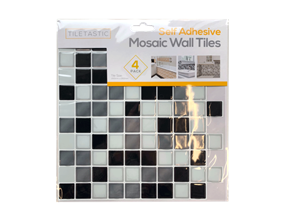 Wholesale Black & White Mosaic Wall Tile Stickers | Gem Imports Ltd