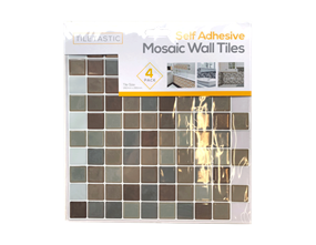 Wholesale Brown Mosaic Wall Tile Stickers | Gem Imports Ltd