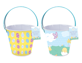Wholesale Metal Easter Treat Buckets | Gem Imports Ltd