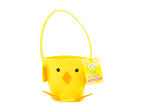 Wholesale Easter Felt Chick Treat Buckets | Gem Imports Ltd