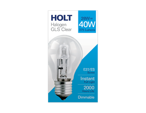 Halogen Clear Light Bulb 28w