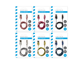 Coloured USB Cable Type C 1m