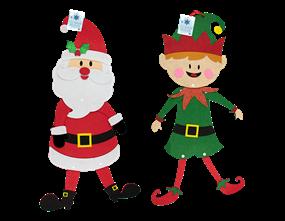 Wholesale Felt Santa & Snowman Hanging  Christmas Decorations   Gem Imports Ltd