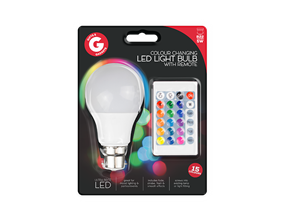 Remote Control Colour Changing LED Bulb B22