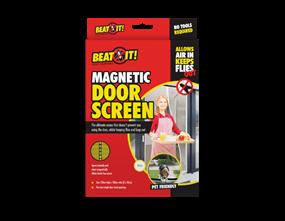 White Magnetic Door Screen