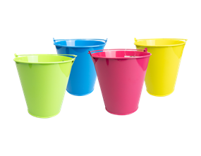 Wholesale Round Tin Bucket Planters | Gem Imports Ltd