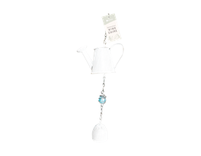 Cream Watering Can Windchime Decoration