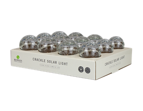 Solar Clear Glass Crackle Ball Light PDQ