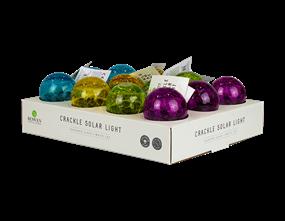 Solar Coloured Glass Crackle Ball Light PDQ
