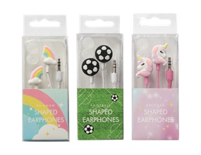 Wholesale Novelty Shaped Earphones | Gem Imports Ltd