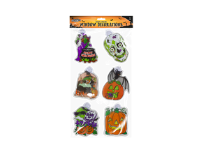 Halloween Window Decorations - 6 Pack Main image	Zoom image