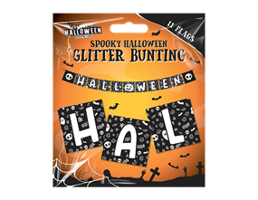Wholesale Halloween Glitter Buntings | Gem Imports Ltd