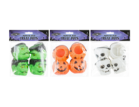 Halloween Treat Pots - 4 Pack