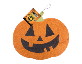 Halloween Pumpkin Glitter Sign
