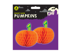 Halloween 3D Pumpkin Decorations - 2 Pack