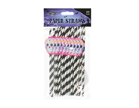 Halloween Paper Straws - 20 Pack