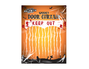 Wholesale Halloween Keep Out Bloody Curtain | Gem Imports Ltd