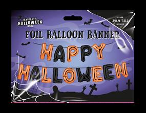 Wholesale Happy Halloween Foil Balloon Banners | Gem Imports Ltd