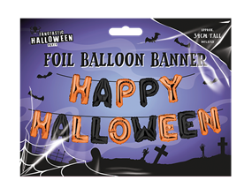 Wholesale Happy Halloween Foil Balloon Banners | Gem Imports Ltd
