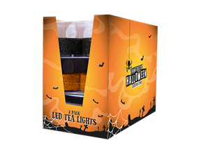 Wholesale Halloween Glitter LED Tealights | Gem Imports Ltd