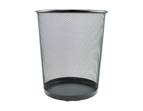 Wholesale Black Metal Waste Paper Bins | Gem Imports Ltd