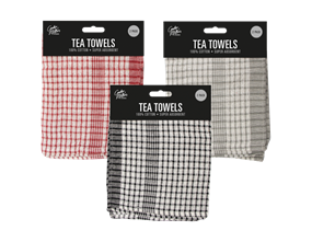 Mono Check Tea Towel - 2 Pack