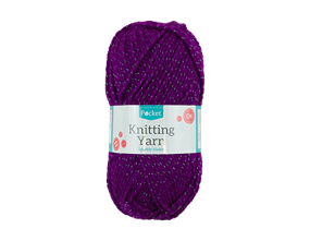 Sparkle Violet Knitting Yarn 50g