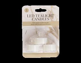 LED Tea Lights - 3 Pack
