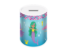 Mermaid Money Tin