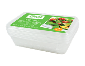 Food Storage Boxes 500ml - 4 Pack