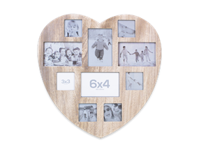 Shabby Chic Heart Photo Collage Frame