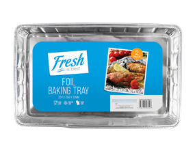 Foil Baking Trays - 2 Pack