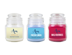 Wholesale Scented Candle in Glass Jar & Lid | Gem Imports Ltd