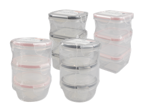 Mini Clip Lock Containers 150-200ml 3pk Trend